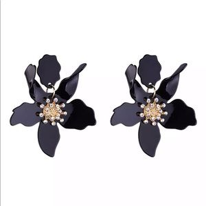 Jewelry - Tortoise, Black, or White statement Lily Earrings